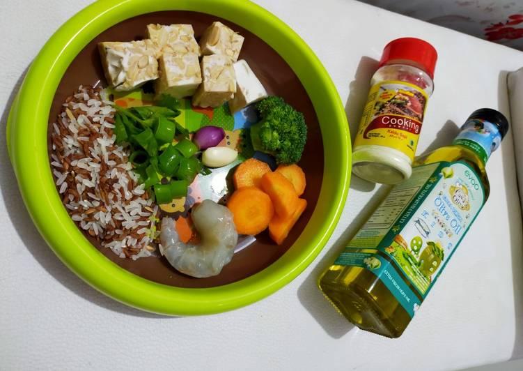 Mpasi elvano 5+ (udang brokoli)