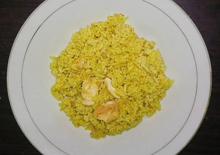 Nasi kebuli rasa soto ayam masak rice cooker