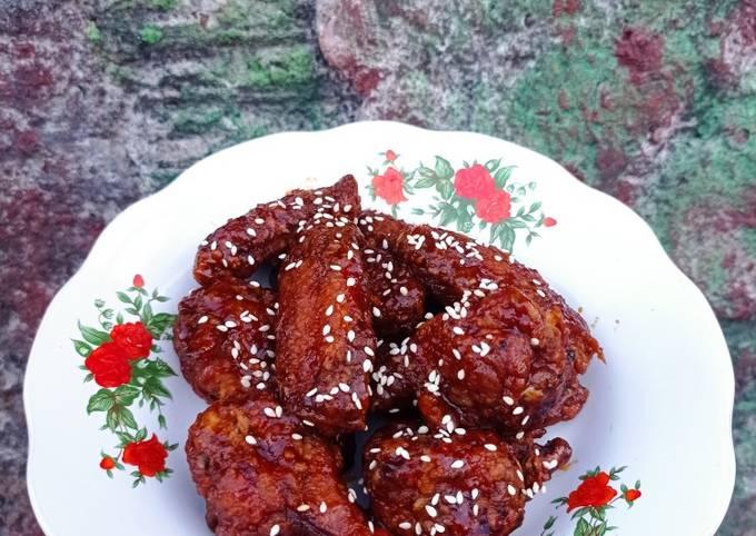 Resep Korean fried chicken wing yang Sempurna