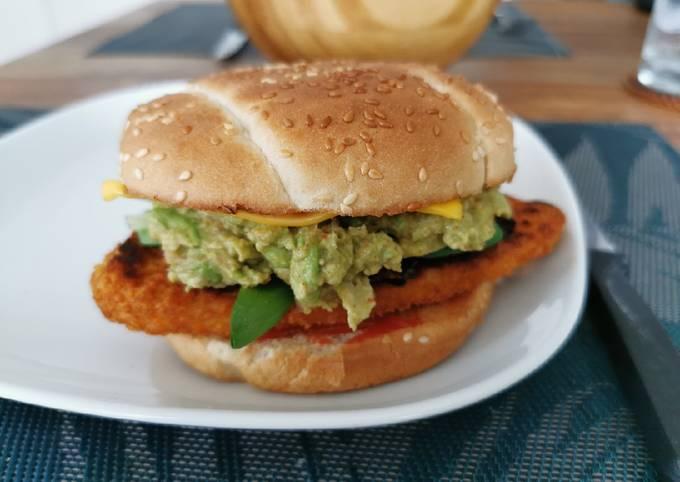 Veggie avocado burger