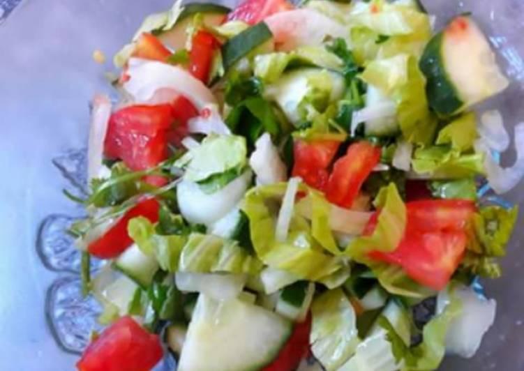 Recipe of Award-winning Lettuce tomato salad#saladcontest