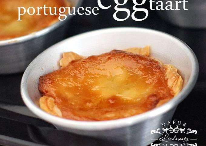 Portuguese egg taart