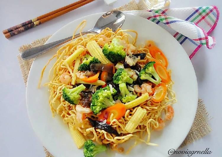 Resep Ifumie Siram Capcay Kuah Seafood Oleh Nella Cookpad