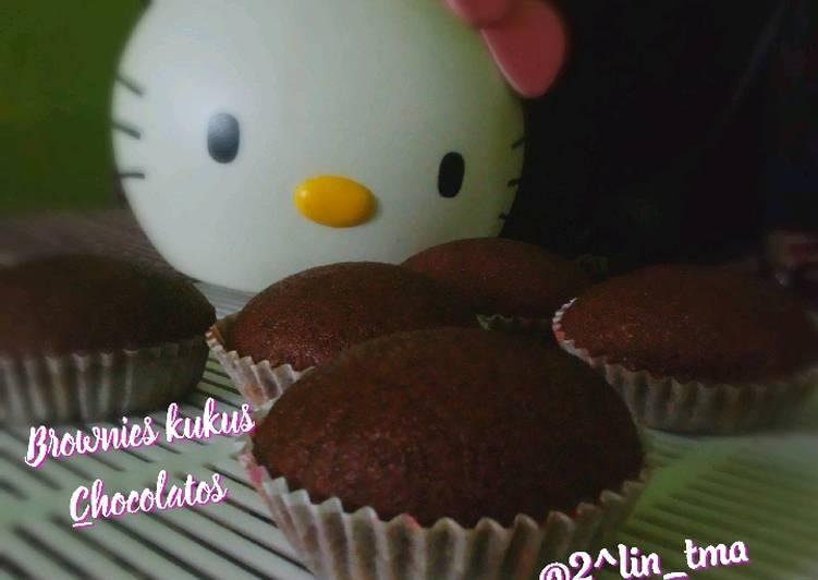 """Brownies kukus chocolatos """"takaran sendok"""" 😍"""