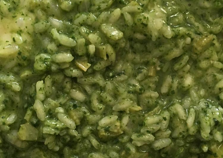 Recipe: Delicious Spinach Risotto