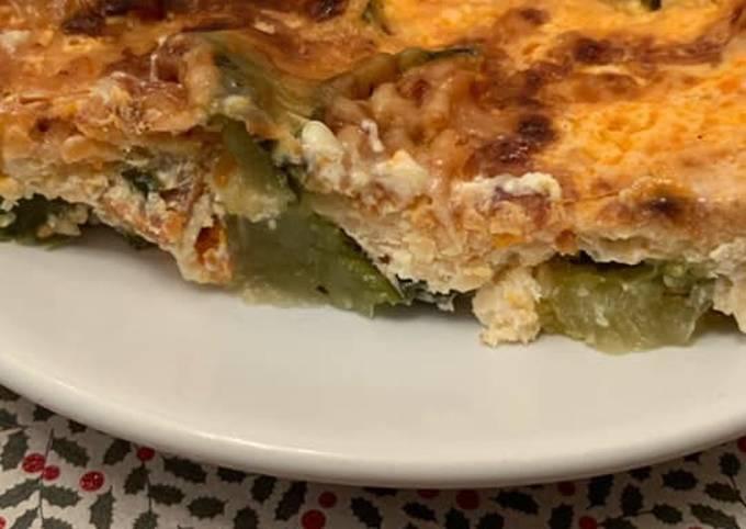 Gratin courgette / chorizo