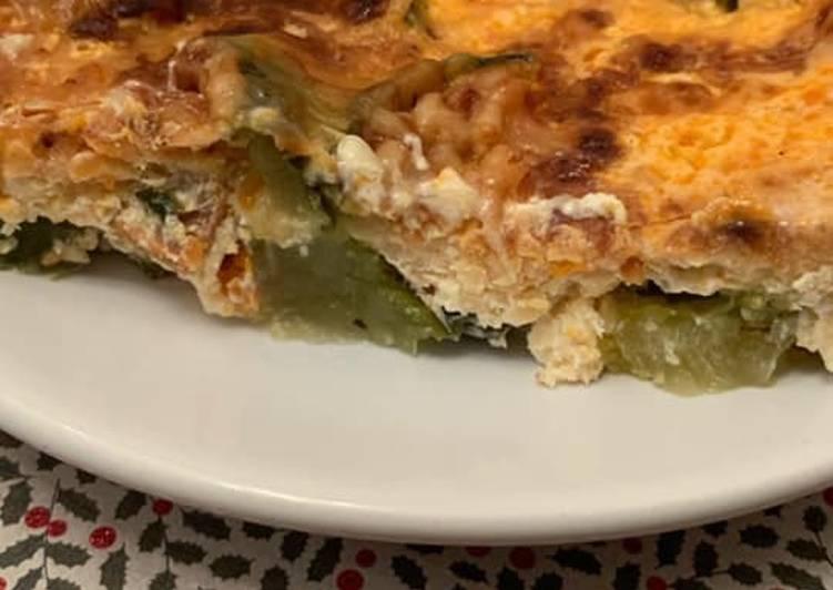 Façon la plus simple Préparer Savoureux Gratin courgette / chorizo