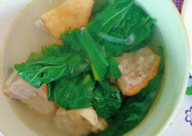 Sup Tahu Bakso Sawi Hijau