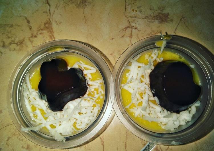 Puding jagung coklat