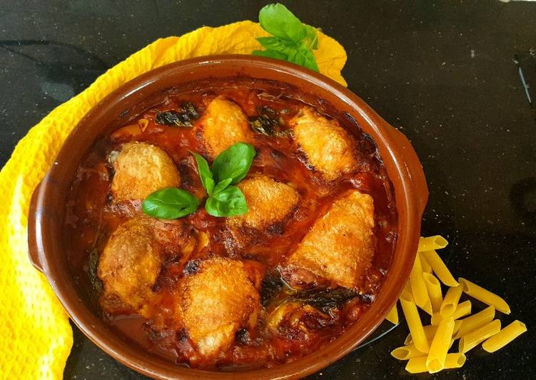How to Make Quick Chicken Cacciatore  or Pollo alla Cacciatora