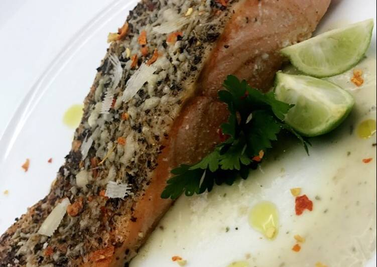 Easiest Way to Cook Yummy Baked Salmon and Potato Purée