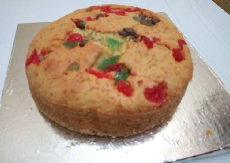How to Cook Appetizing Vanilla cake with cherries #revival contest
