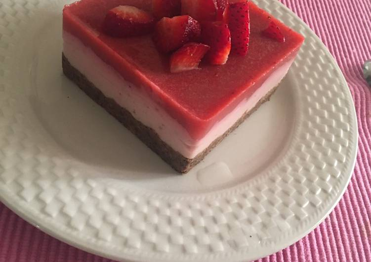 Fit-cheesecake alle fragole 🍓
