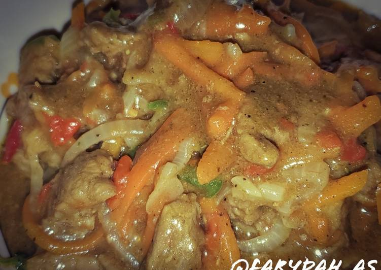 Beef curry sauce