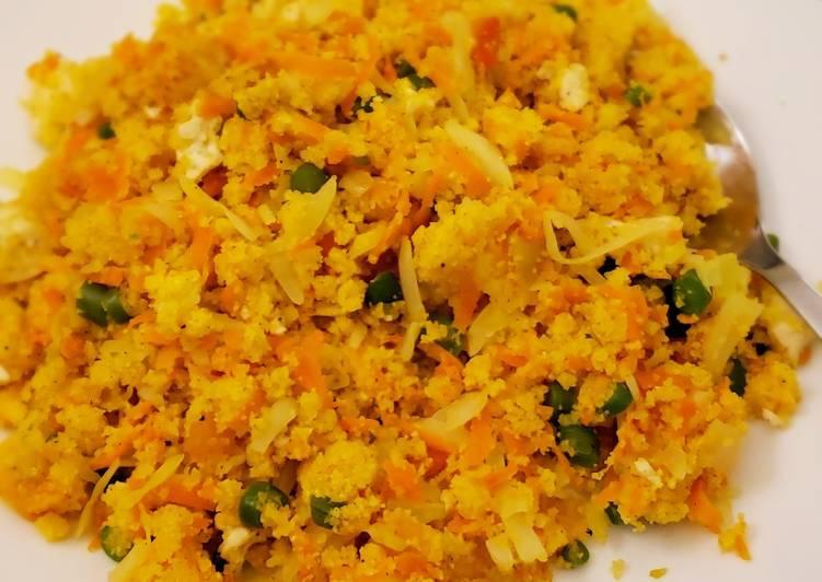 Semolina chicken vegetable mix