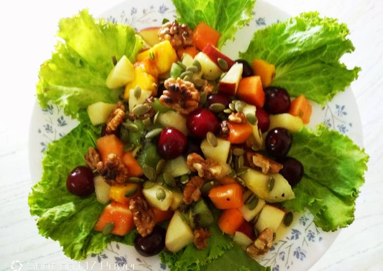 Easiest Way to Make Tasty Fruit salad dressing with Honey chilli sauce