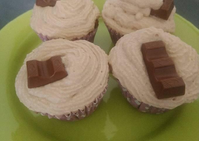 Cupcakes à la Ganache Au Kinder