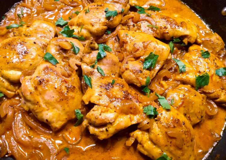 Creamy saffron chicken