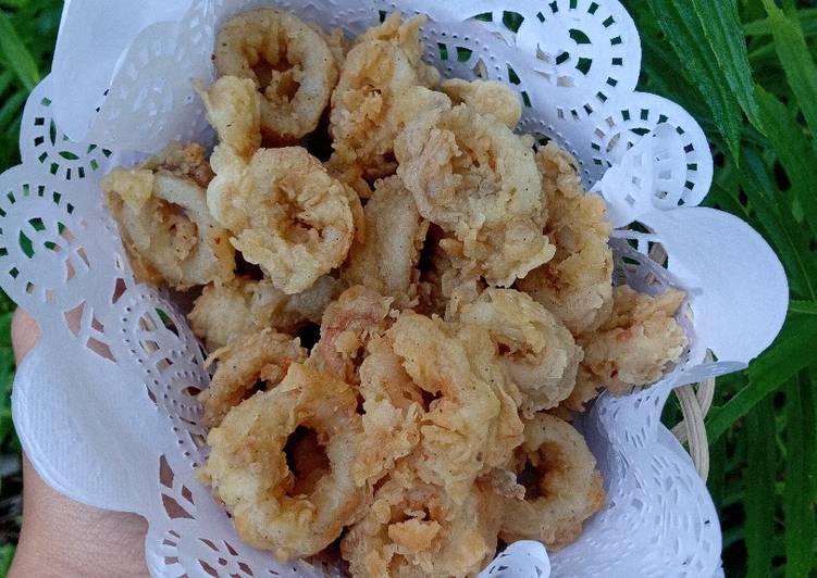 Cumi goreng krispi (calamary)