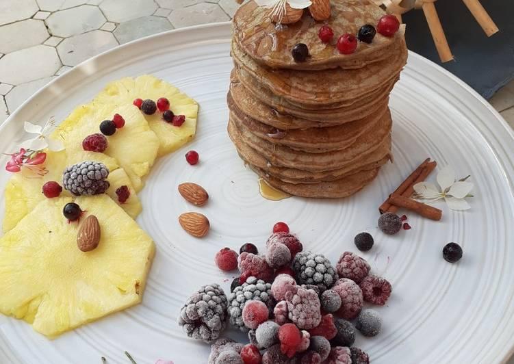 Pancakes à la farine chataigne et sarrasin sans Sucre