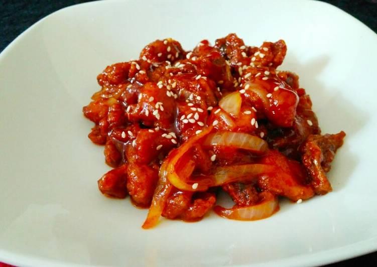 Korean chicken spicy