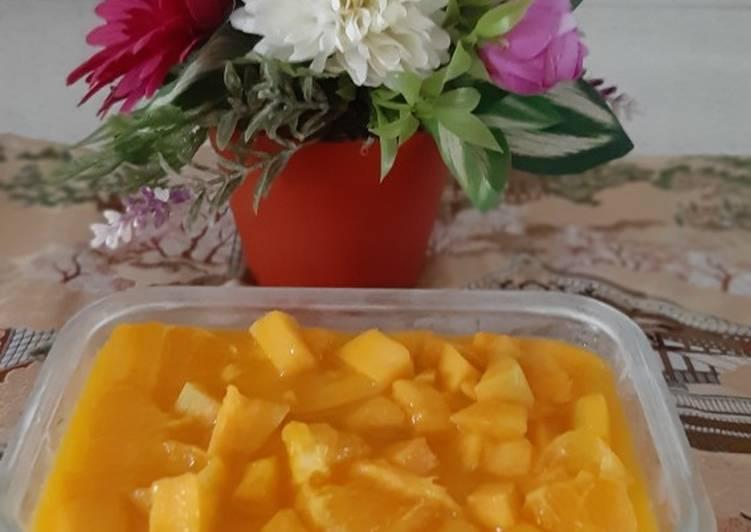 Tofu fruit puding