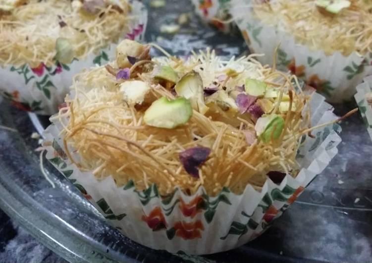 Kunafa Cup cakes