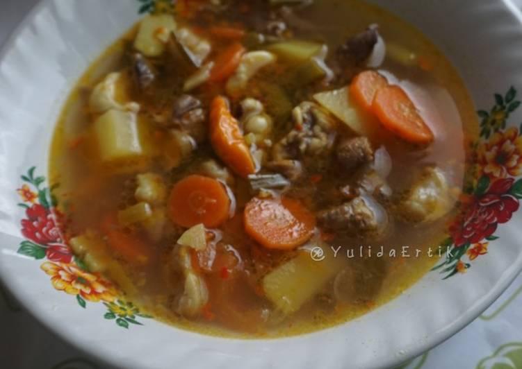 Resep Pindang Daging + sayur yang Menggugah Selera