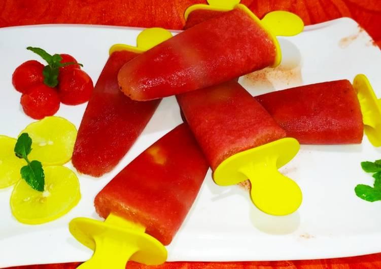Watermelon and Pomegranate Kulfi