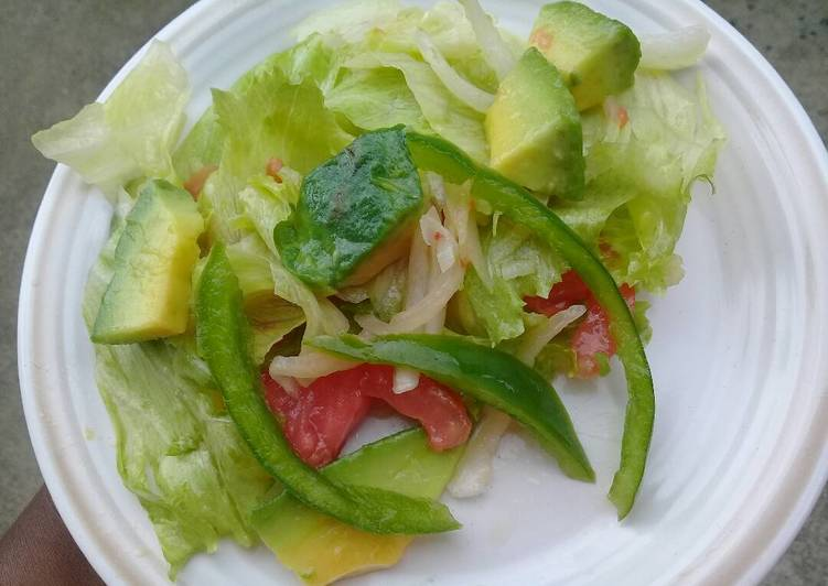 Steps to Prepare Award-winning Green salad with avocado