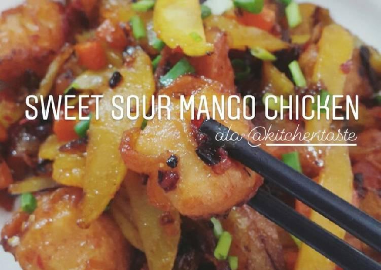 SWEET SOUR MANGO CHICKEN (Ayam Mangga Asam Manis) Kitchentaste