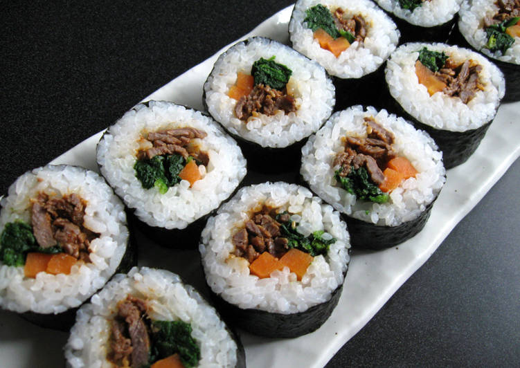 Easiest Way to Make Perfect Yakiniku Sushi Rolls