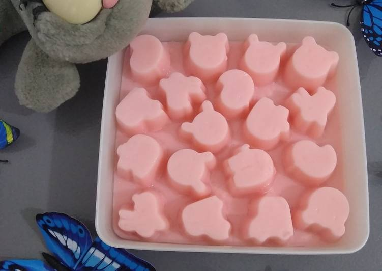 Strawberry Milk Silky Pudding