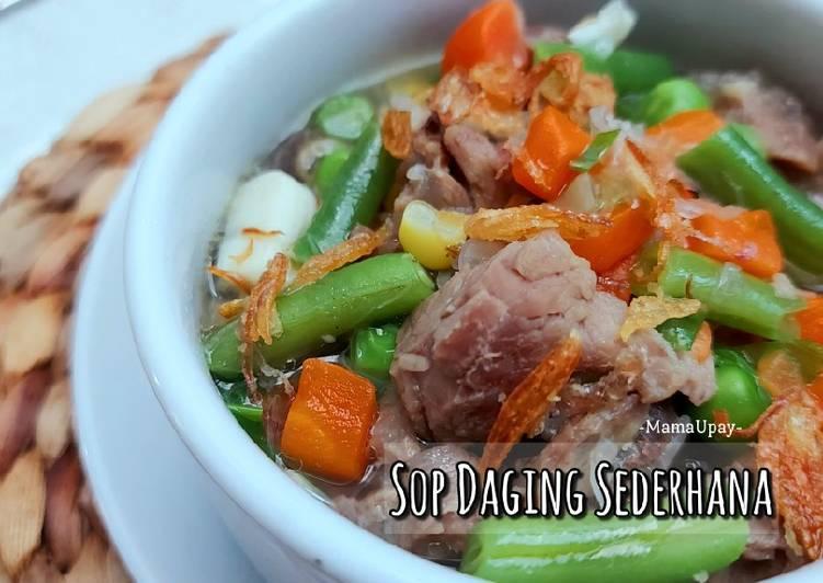 Resep Sop Daging Sederhana Anti Gagal