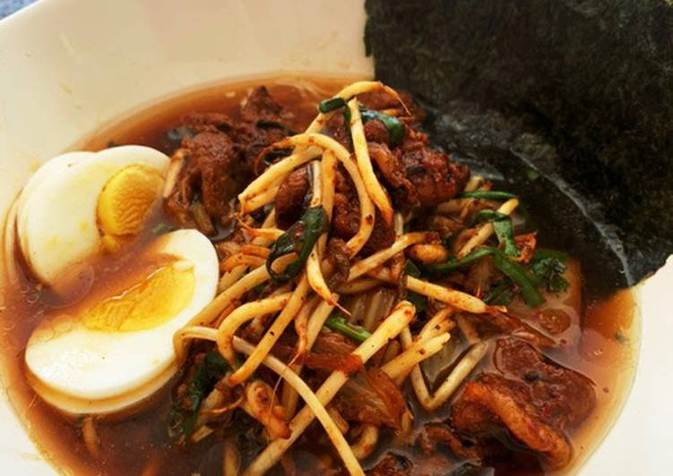 Steps to Make Homemade Pork Kimchi Ramen