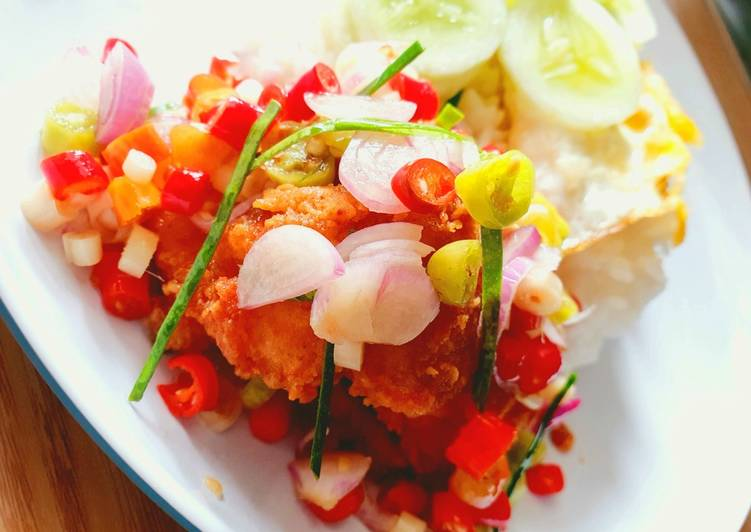 Ikan Patin Crispy Sambal Matah