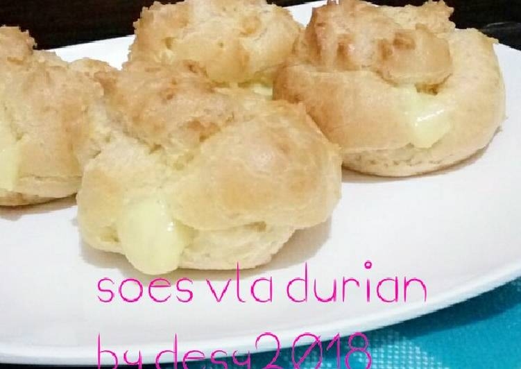 Kue soes vla durian