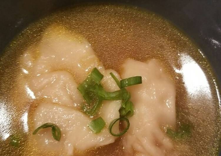 How to Make Super Quick Homemade Wonton soup