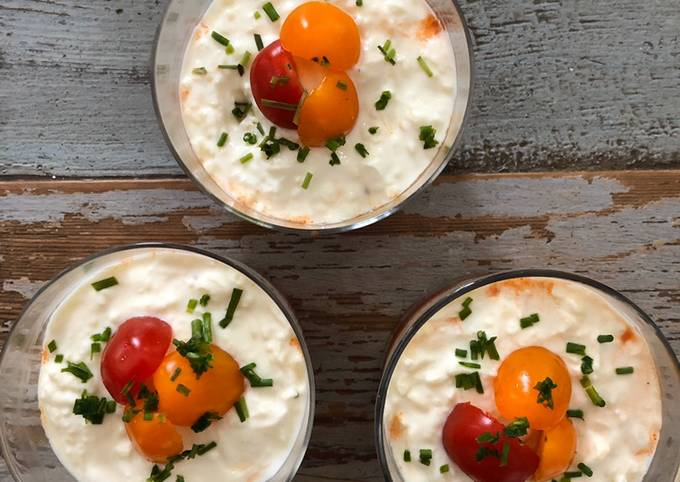 Tiramisu mozzarella et tomates