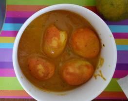 Masakan India : Egg butter masala