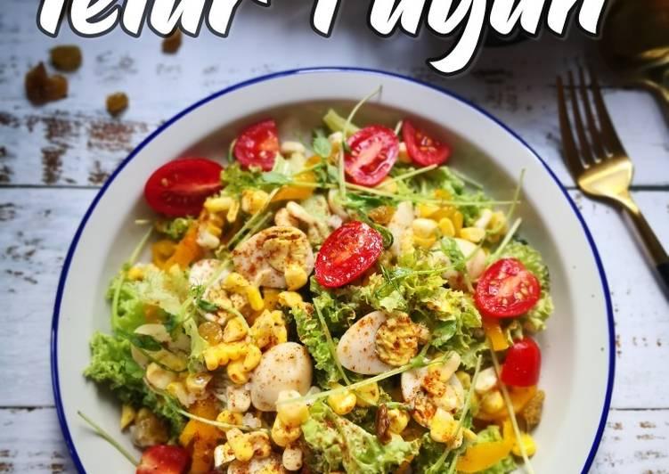 Salad Telur Puyuh #MaratonRaya #TelurPuyuh #Minggu7