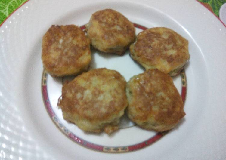 Perkedel Kentang Udang Rebon (menu batita 1y+)