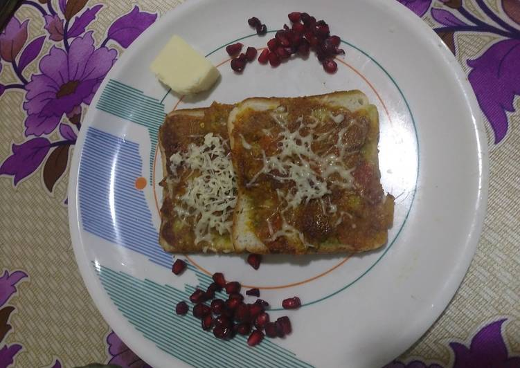 Easiest Way to Cook Delicious Spicy masala bread toast