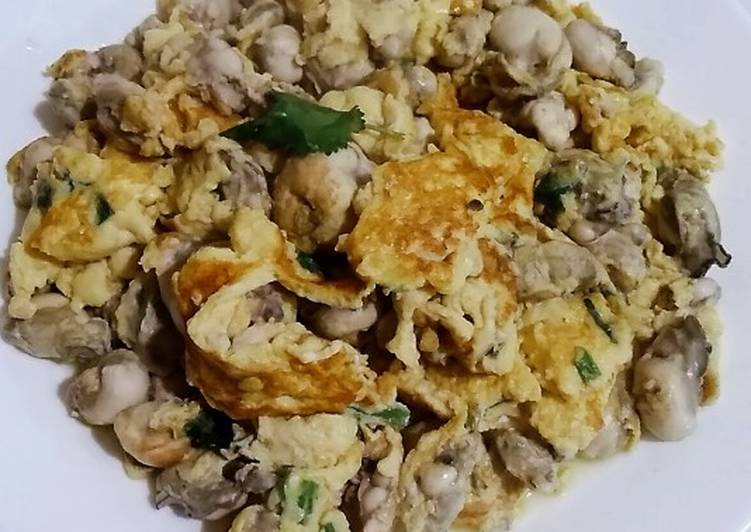 Oysters omelette