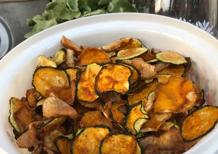 Easiest Way to Cook Delicious Zucchini Chips 🥒