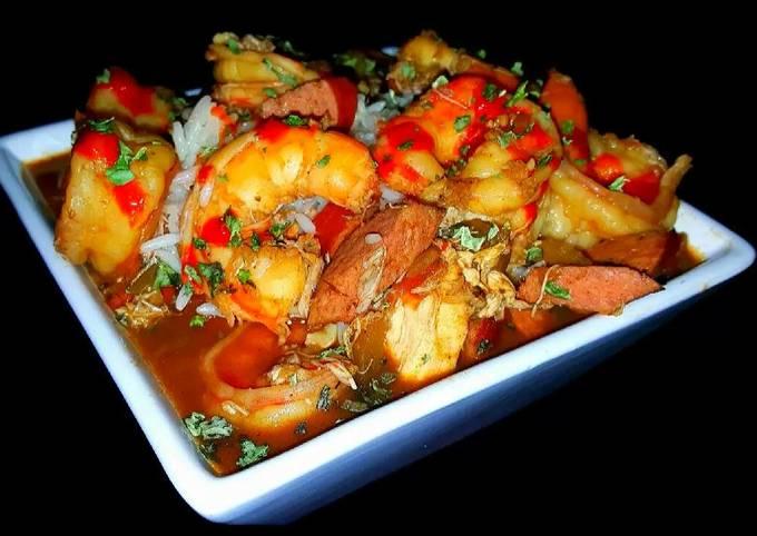 Mike's EZ Chicken Sausage & Shrimp Gumbo