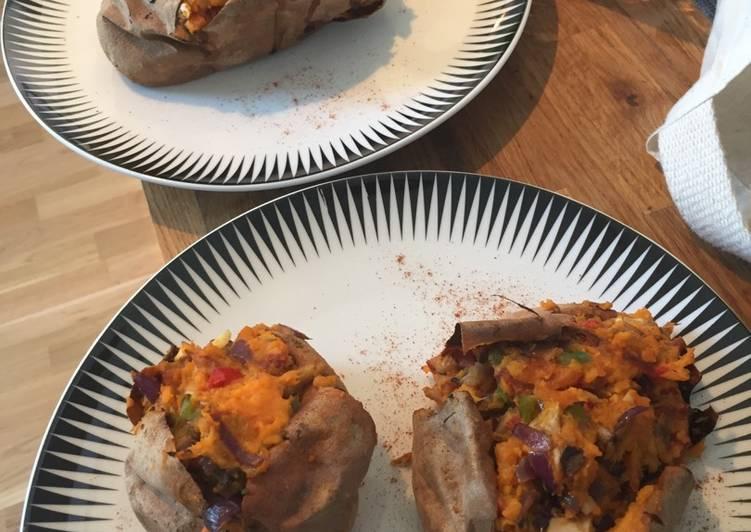 Recipe: Delicious Stuffed Sweet Potatoes