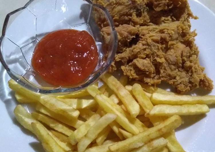 Resep Ayam Goreng Krispi Ala Mcd Pakai Tepung Bumbu Kentucky Sasa Anti Gagal Resep Masakanku