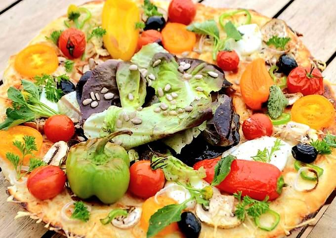 Pizza végétarienne allégée