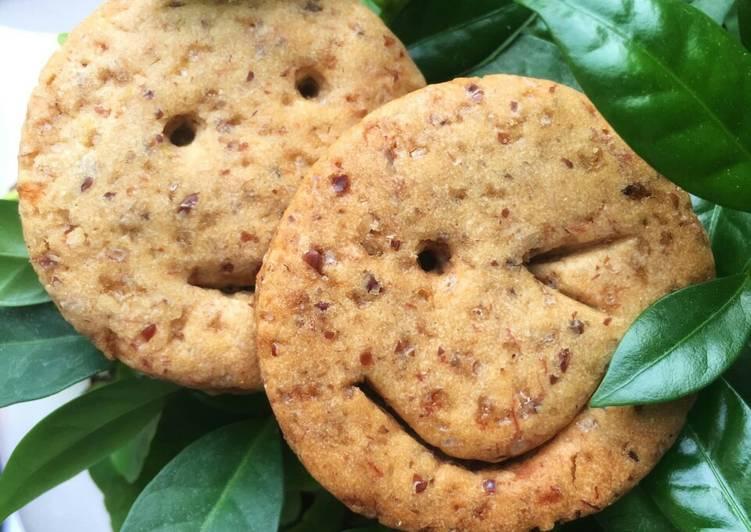 Smiley honey cookies 😊(vegetarian food)